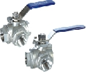 3-WAY THREAD BALL VALVE